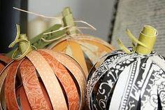 Paper Pumpkin Balls