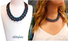 Collar azul estylos www.estylos.es