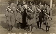 Girls' basketball team (Tulalip), 1912  by Marquette University Archives, via Flickr