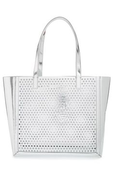 Loeffler Randall 'Open Tote' Perforated Leather Tote | Nordstrom
