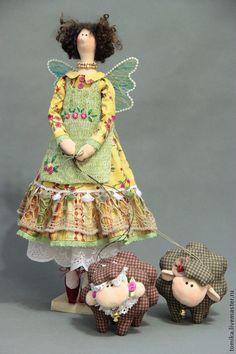 Куклы Тильды ручной работы. Этери с овечками. Бойкова Елена. Ярмарка Мастеров. Кукла ручной работы, кружево
