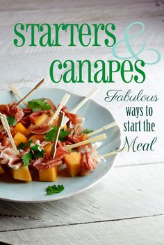 Starters & Canapes for Christmas. #Recipe