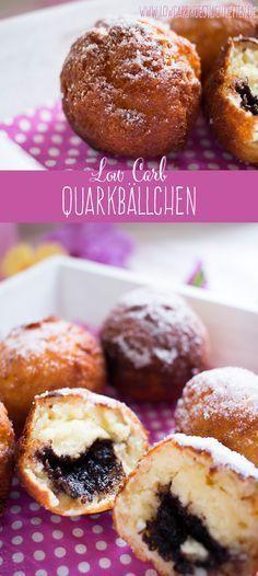 Unwiderstehliche low carb Quarkbällchen www. Irresistible low carb quark balls www. Low Carb Sweets, Low Carb Desserts, Healthy Desserts, Low Carb Recipes, Diet Recipes, Cookies Healthy, Desserts Sains, Paleo Dessert, Low Carb Diet