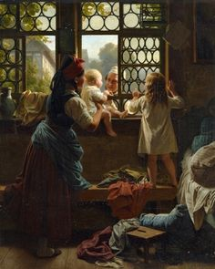 Good Morning Father - 1835 by Eduard Meyerheim (german painter)