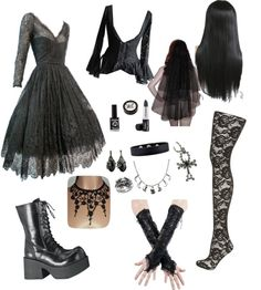 """""""Black Wedding"""" by electronic-lullaby on Polyvore"""