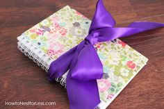 I want to make a mother/daughter journal... this is a perfect idea :) Love the ribbon to tie it shut.. and lined paper inside to make it easier for her to write.. she is only 8