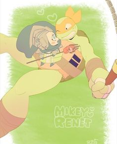 Mikey and Renet TMNT