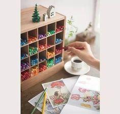 coloured pencil storage