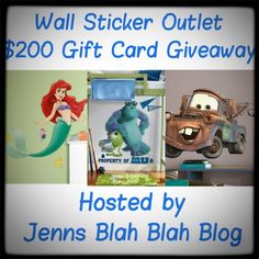 $200 Wall Sticker #Giveaway 9/18/13