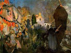 """Joaquim Mir Trinxet (1873-1940). """"Can Gállecs"""". Óleo sobre tela. 110 x 152 cm. Colección particular. Barcelona."""