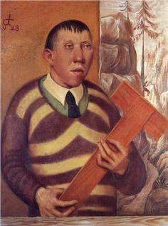 Otto Dix (1891-1969) was een Duitse schilder en graficus. Hij doorliep gedurende de periode 1910-1933 verschillende belangrijke moderne kunststromingen zoals het expressionisme, Nieuwe Zakelijkheid. In de jaren '20 groeide zijn aversie tegen de heersende clichés uit tot een sarcasme waarmee hij de burgerij op de kast joeg. Hij wilde in zijn werken de wantoestanden in de samenleving aan de kaak stellen en het lelijke tonen, dat de nette burgers liever niet zagen.