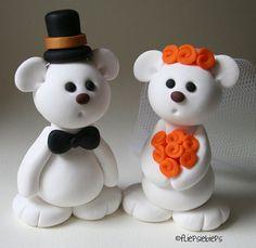 Bear Wedding Cake Topper by fliepsiebieps1, via Flickr