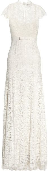 Temperley London Floral Lace and Silk Bridal Gown- Two of my favorite things, Lace and Silk!