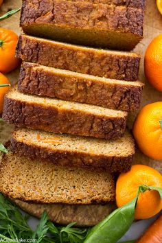 Carrot Orange Bread that is moist and lightly sweet, gluten free, grain free, lower carb and naturally sweetened. You'll love it!