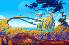 roger dean art | Joe Cummings Illustration: Roger Dean Landscape