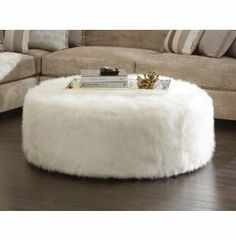 Tyre Fur Ottoman | Fabric Furniture Sets | Living Rooms | Art Van Furniture - Michigan's Furniture Leader