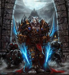 World Of Warcraft Warrior Wallpapers Wallpapers) – Free Backgrounds and Wallpapers Fantasy Creatures, Mythical Creatures, Dark Fantasy, Fantasy Art, Final Fantasy, Wow World, Werewolf Art, Warcraft Art, Heroes Of The Storm
