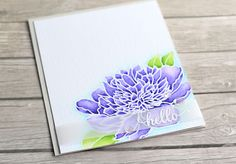 cardmaking technique video tutorial: emboss resist with Zig watercolor markers ... Watercolour Peony ... created by Michellle Short on The Card Grotto