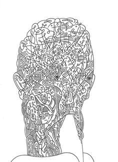 """Stare Factor"" 8.5"" x 11"" ink on paper, Luke Ramsey 2012"
