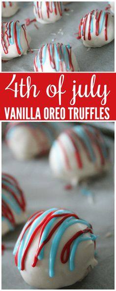 I have an awesome 4th of July Vanilla Oreo Truffles Recipe for you today! This delicious recipe is perfect for the 4th of July, Memorial Day and any other patriotic holiday!