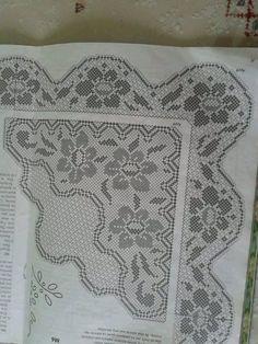 Home Decor Crochet Patterns Part 5 - Beautiful Crochet Patterns and Knitting Patterns Crochet Lace Edging, Crochet Borders, Thread Crochet, Crochet Doilies, Crochet Curtains, Crochet Tablecloth, Filet Crochet Charts, Free Crochet, Knitting Patterns