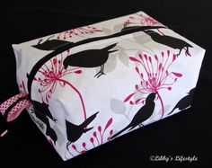 Birds toiletry bag. Handmade. Moisture resistant travel bag. by LibbysLifestyle on Etsy https://www.etsy.com/listing/457883720/birds-toiletry-bag-handmade-moisture