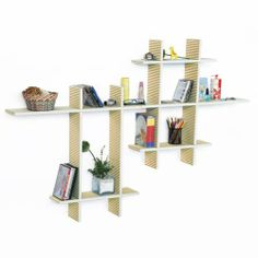 Trista - [Care Free-MEGA] Leather Cross Type Shelf / Bookshelf / Floating Shelf (9 pcs) by Trista Wall Shelf. $119.89. Adds a rich upscale look to any room, updates your home decor with the stylish & convenient shelves.. Display souvenirs, photos, CDs, awards, books, decorative items and more.. Creates stunning storage solution while saving space.. Top faux leather covering with contrast stitching over a sturdy wooden frame.. Maximum weight capacity: 10 lbs for ea...