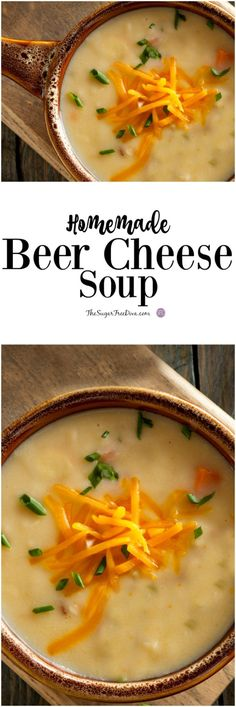 Homemade Beer Cheese Soup YUM- this recipe is really yummy looking! #soup #lowcarb #recipe #yummy #cheese