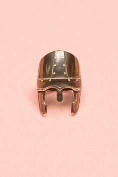 """Aurelie Bidermann : """"Perceval"""" Helmet Ring                                           """"Perceval"""" Helmet Ring"""