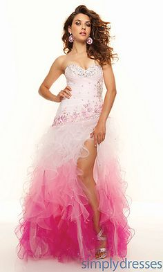 2013 Top Tulle Strapless A-line Long Corset Sweetheart Ruffled Split Front Prom/evening/formal Dresses Ml-93044