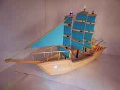 How to make Popsicle Stick Ship Popsicle Stick Boat, Popsicle Stick Crafts House, Craft Stick Crafts, Bateau Pirate, Make A Boat, Ship Craft, Pop Stick, Wooden Boat Plans, Wood Boats