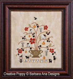 Barbara Ana - l'automne (grille broderie point de croix)