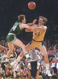Danny Ainge and Kurt Rambis. 1985.
