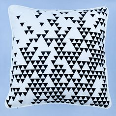 aztec print triangle pillow from etsy