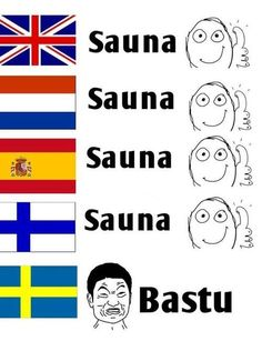 . Learn Finnish, Funny Memes, Jokes, Funny Shit, Saunas, Funny Comics, Dumb And Dumber, Finland, Sweden