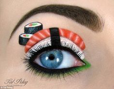 Amazing designs: Make-up professional and blogger Tal Peleg, from Israel, paints intricate designs onto tiny areas of the face using only li...