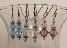 set of 3 small earrings by GaudyNight on Etsy, $15.00