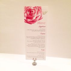 Wedding Roses Menu by www.elevenelevenpixel.com