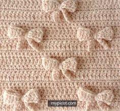 crochelinhasagulhas: Ponto lacinho em crochê