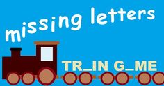 Work out words in the missing letters train game