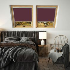 Need Aubergine Thermal Blackout Blinds for Roto skylight windows? Our own brand blinds are fully compatible with Roto loft windows. Blinds For Velux Windows, Red Blinds, Black Blinds, Skylight Window, Mini Blinds, Window Blinds, Thermal Blinds, Blinds Direct, Blinds For You