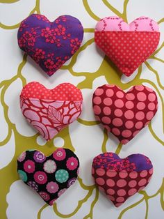 Stuffed Hearts (From Best Of: DIY Valentine's Day Projects.) #diy #valentines #bestof