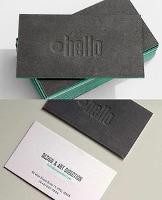 Great business card. Love the use of color on card edges.