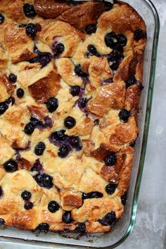 Blueberry-Maple Breakfast Bread Pudding