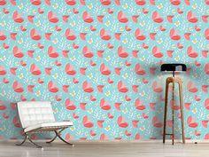 Design #Tapete Korallen Blumen