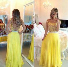 Vestido #amarillo #fiesta