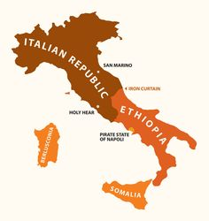 Yanko Tsvetkov's Mapping Stereotypes project - Italy According to Posh Italians
