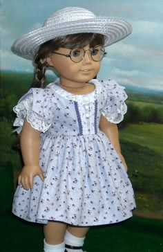 Lavender & Lace Dress Made by KMK fits Popular 18 Inch American Dolls
