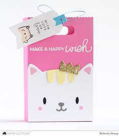 Today I want to share my cute bags for Mama Elephant featuring Sweetest Greetings stamp set. This set is full of amazing and versa. Cat Cards, Kids Cards, Mama Elephant Stamps, Happy Wishes, Bear Party, Diy Wedding Favors, Card Sketches, Scrapbook Cards, Diy For Kids