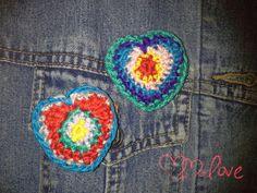 cute little crocheted  heart broche von Lechatsauvage auf Etsy